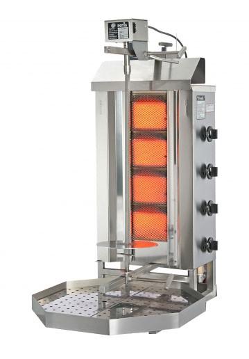 POTIS G2 Dönergrill / Gyrosgrill Gas - für 30 kg Infrarot-Einfachbrenner