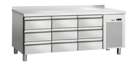 Bartscher S9-100 MA Kühltisch Umluft mit 9 Schubladen