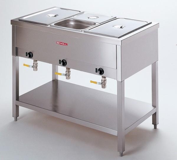 Scholl 3013 UA Bain-marie-Standgerät für 3 x 1/1 - 200 Speisenausgabewagen - beheizt