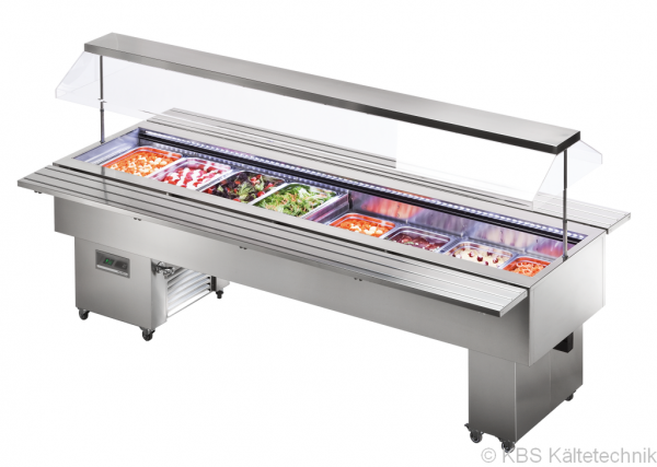 KBS Salatbar Isola 8M VT Inox für 8 x GN 1/1