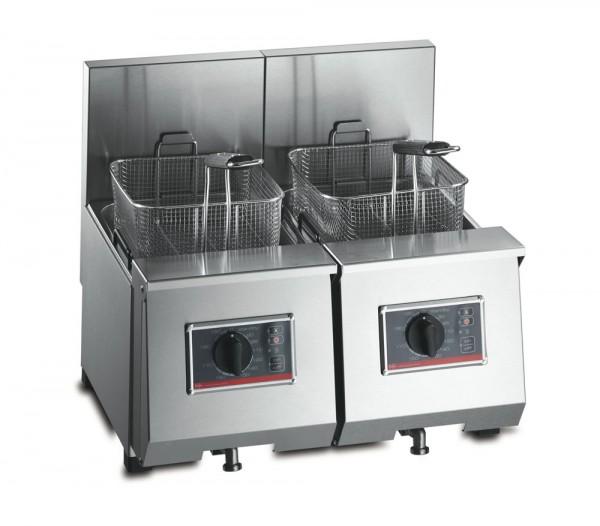 frifri Profi 6+6 Fritteuse Doppelbecken Tischgerät Ölinhalt: 2x 5-7 Liter