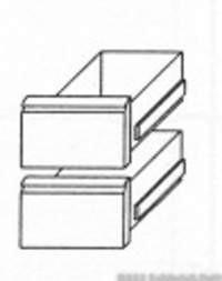 KBS Kühltischschubladensatz 1/2 +1/2