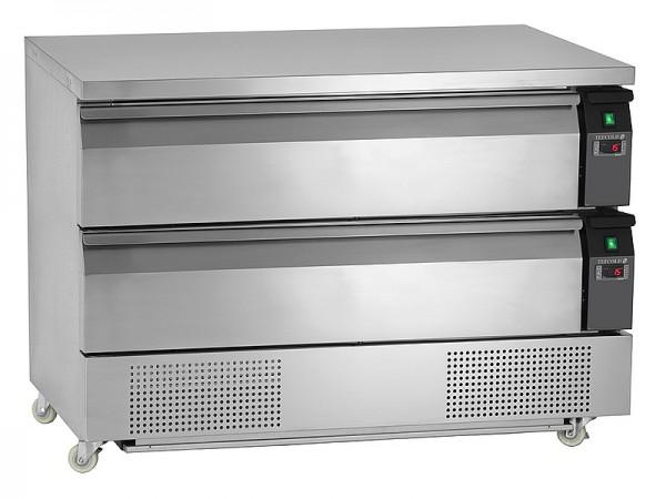 COOL-LINE KTKC 2-3 Kühl-/ Tiefkühl-Container mit 2 Schubladen für 2 x 3 GN 1/