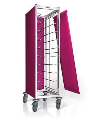 Blanco Seitenwandverkleidung 3-seitig, farbig für Tablett-Abräumwagen TAW 10