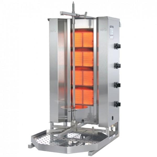POTIS ORIENT MU GD4 Gas Dönergrill / Gyrosgrill  Flüssiggas oder Erdgas - für 70 kg