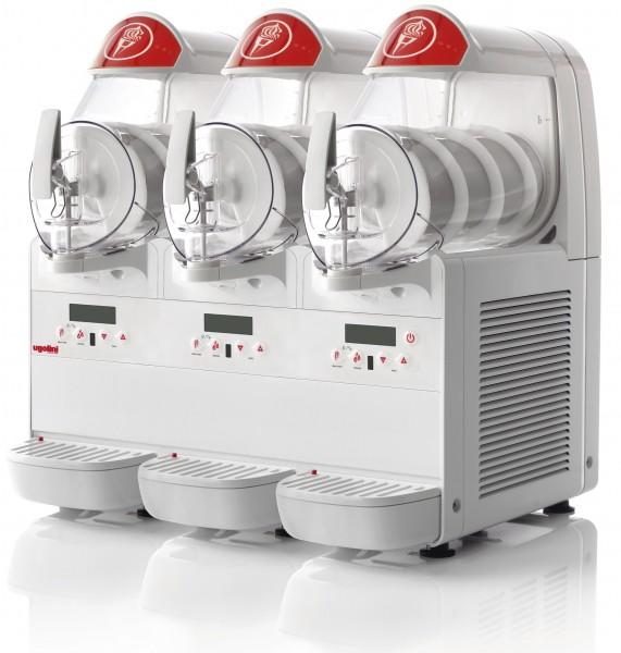 NOSCH Minigel plus 3 - 3 x 6 Liter Softeismaschine, Frozen Yoghurt Maschine