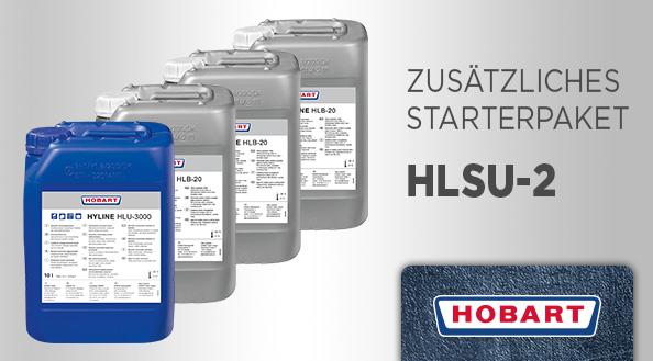 Hobart Starter-Paket HLSU-2 für Gastro-Spülmaschinen - 3 x Bistro-Reiniger HLB-20 und 1 x Klarspüler HLU-3000