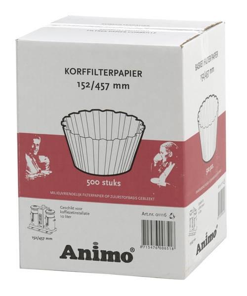 Animo CombiLine-Zubehör Korbfilterpapier 152/457 für CB 10 - 500 Blatt