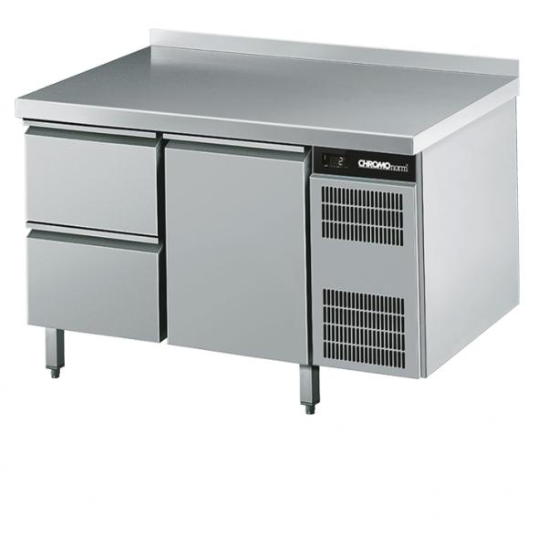 Chromonorm Kühltisch GN 1/1, mit 2 Schuladen & 1 Tür - Breite 1250 mm - CKTEK7211601-2/1