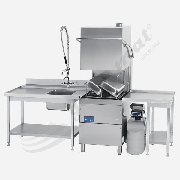 Gel-o-mat E Complete 2500 Haubenspülmaschine mit Vollausstattung inkl. Tische