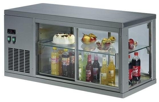 KBS Aufsatzkühlvitrine VES 211 - aus Edelstahl, 3-seitig verglast