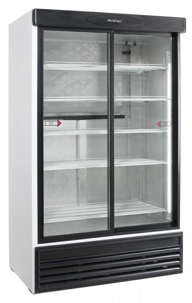Nordcap KU 1200 G-SD Glastürkühlschrank - Breite 1200 mm, mit Schiebetüren