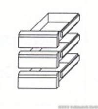 KBS Zubehör Kühltisch - 3 Schubladen 1/3 GN 1/1