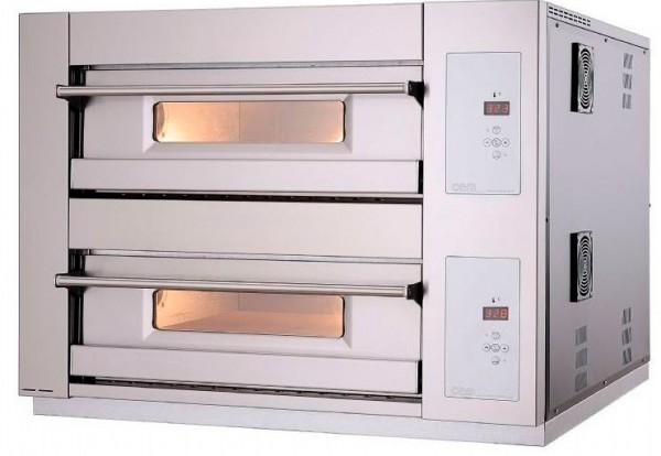OEM DOMITOR 1230LDG Doppelkammer-Pizzaofen 6+6 Pizza 30 cm - Breite Version - Digital