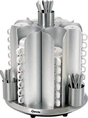 Bartscher Tassenwärmer 48 Tassen, CNS 103067 gefüllt - Lieferung ohne Inhalt