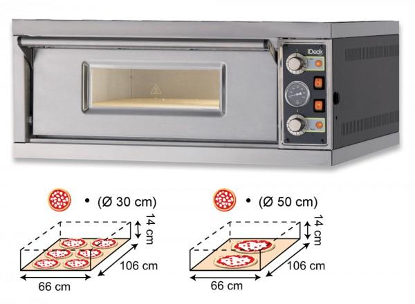 Moretti IDECK PM 65.105 Pizzaofen Elektro Manuell mit 1 Backkammer