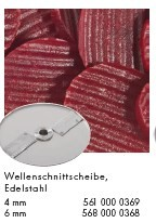 Alexander Solia Wellenschliffscheibe  4 oder 6 mm für Cutty Gemüseschneider
