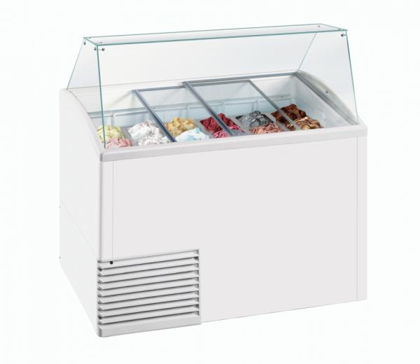 KBS Dolce Gelato Speiseeisverkaufstheke für 10 Eisschalen a 5 Liter