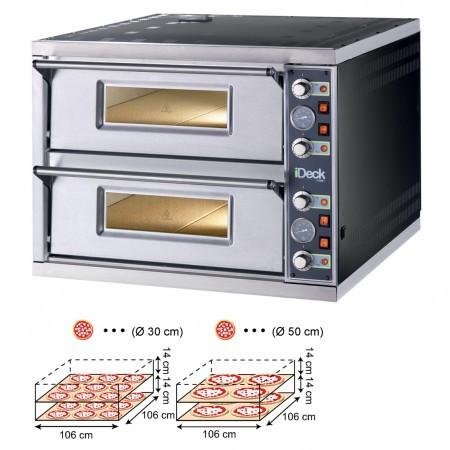 Moretti IDECK PD 105.65 Pizzaofen Elektro Manuell mit 2 Backkammern für 2 x 9 Pizzen Ø 30 cm