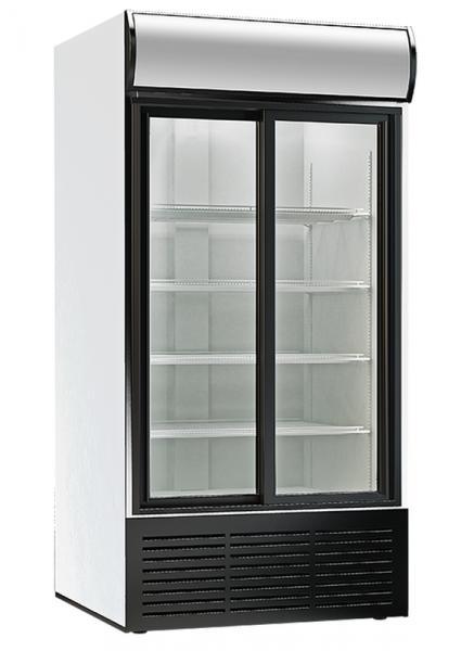 KBS Glastürkühlschrank KBS 1250 GDU mit 2 Schiebetüren 60205