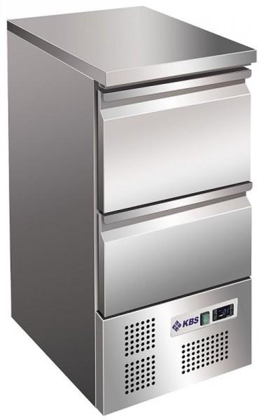 KBS KTM 106 Kühltisch schmal mit 2 Schubladen
