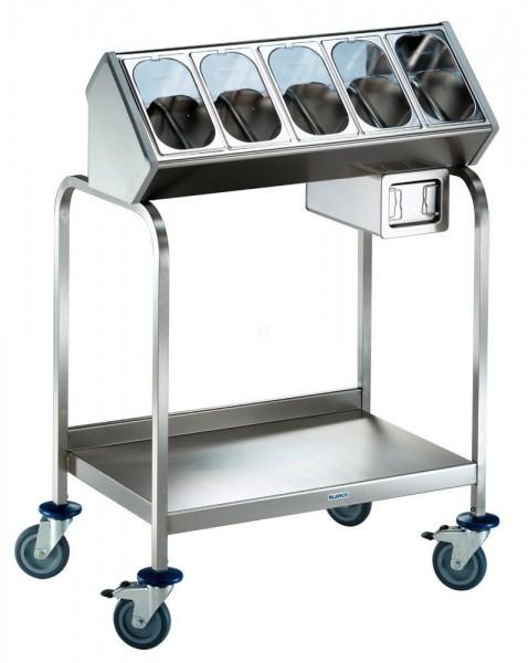 Blanco BT 400 Besteck- und Tablettwagen - mit 5 Besteckbehältern und 1 CNS-Serviettenspender