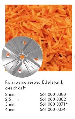 Alexander Solia Rohkostscheibe 3 mm für Cutty Gemüseschneider