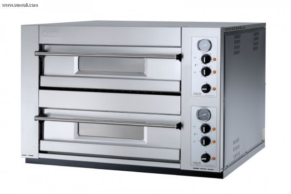 OEM DOMITOR 1230LEM Doppelkammer-Pizzaofen manuell 6+6 Pizza 30 cm - Breite Version