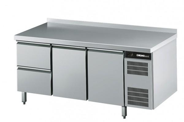 Chromonorm Kühltisch GN 1/1, mit 2 Türen und 2 Zügen -Breite 1725 mm