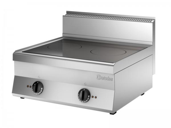 Bartscher Induktionsherd mit 2 Kochstellen Serie 650 Snack - Tischgerät mit 2 x 5000 Watt