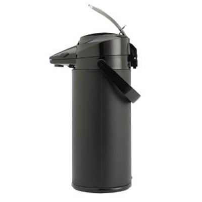 Animo Pumpthermoskanne 2,2 Liter - mit Edelstahl innen - AUSSEN schwarz