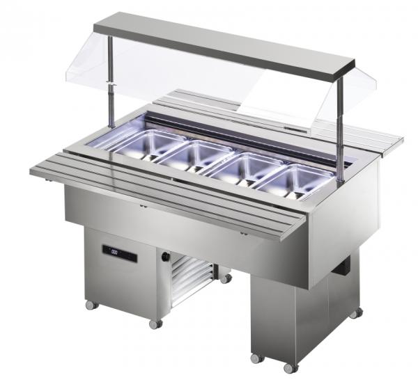 KBS Isola 4M VT Inox - Salatbar für 4 x GN 1/1
