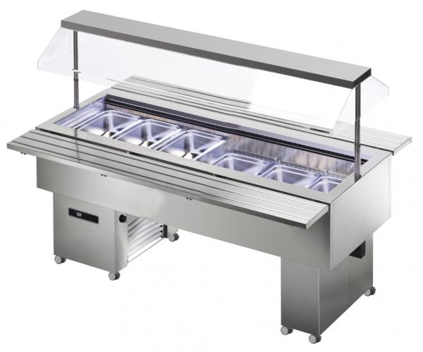 KBS Isola 6M VT Inox - Salatbar für 6 x GN 1/1