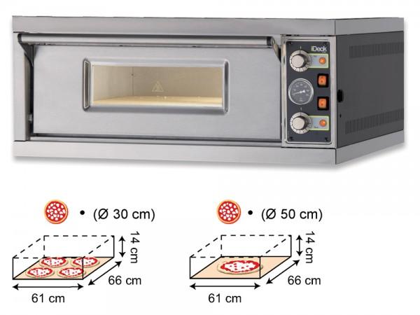 Moretti IDECK PM 60.60 Elektro-Pizzaofen manuell mit 1 Backkammer für 1 x 4 Pizzen Ø 30 cm