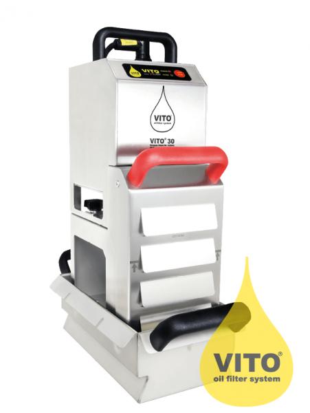 Vito Frittierölfilter Vito 30 für bis zu 12 Liter - Filtrationsgerät mit Partikelfilter
