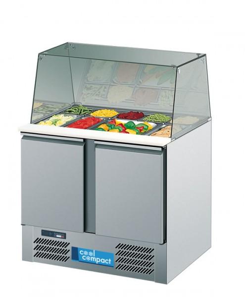Cool Compact Salatvitrine SV95 mit Glasaufsatz  für GN 1/1 steckerfertig