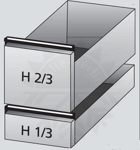 Cool Compact  Rollenauszug 2/3 und 1/3 für Getränketheke