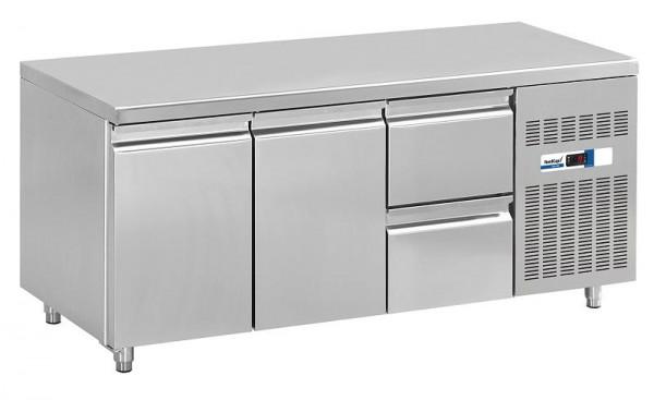 COOL-LINE KT 1795 2T 2Z Kühltisch GN 1/1 mit zwei Türen und zwei Züge 1/2 - Breite 1795 mm