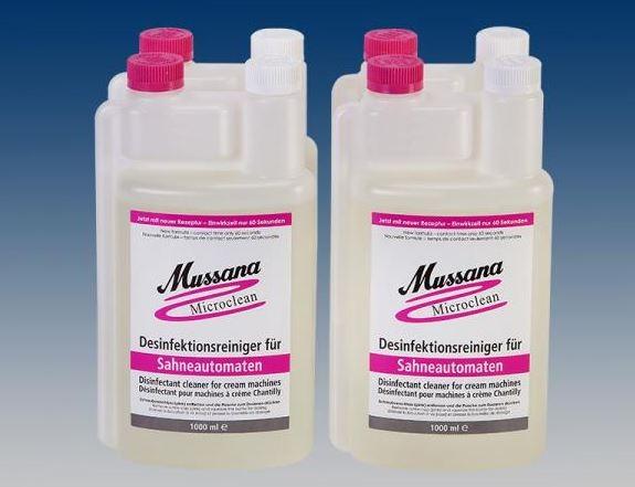 Mussana Mikroclean - Reiniger  4 x 1 Liter - NEU