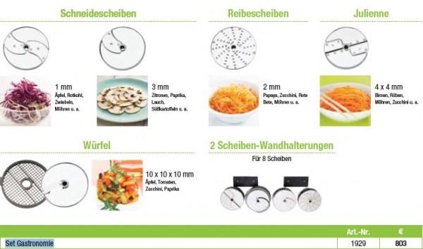 Robot Coupe Set Gastronomie 6 Scheiben für CL 50, CL 52, CL 55 und CL 60 Gemüseschneider