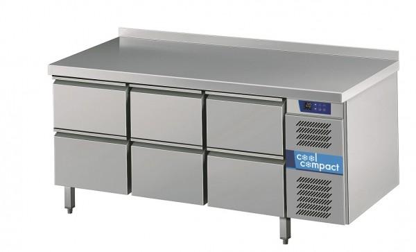 Cool Compact Kühltisch Magnos 6 Züge  Tiefe 700 für GN 1/1 - Breite 1725 mm