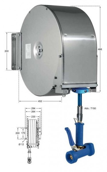 PowerReel Schlauchaufroller PR.656.810.T150 Geschlossen 15 m