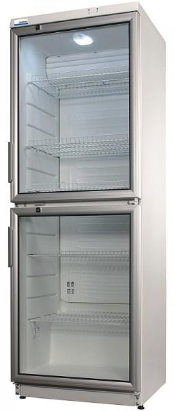 COOL-LINE Glastürkühlschrank CD 350-2 LED mit Umluftkühlung