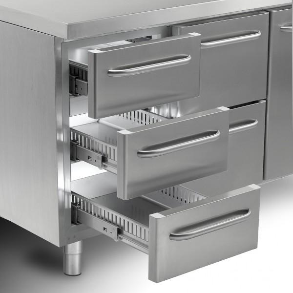 Gram GASTRO 07 Aufpreis Schubladenauszüge mit 2×1/2 für Kühltisch Abbildung ähnlich
