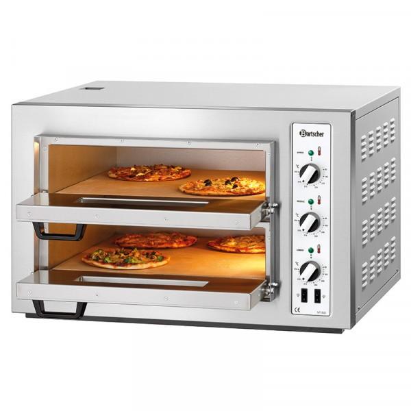 Bartscher NT 502 Pizzaofen Doppelkammer für 2 x 4 Pizzen Ø 25 cm