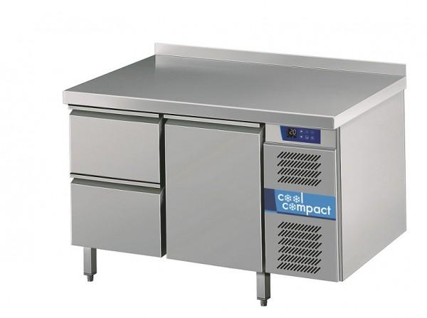 Cool Compact Kühltisch 1 Tür und 2 x 1/2 Zügen  KTM721161-MS-2/0