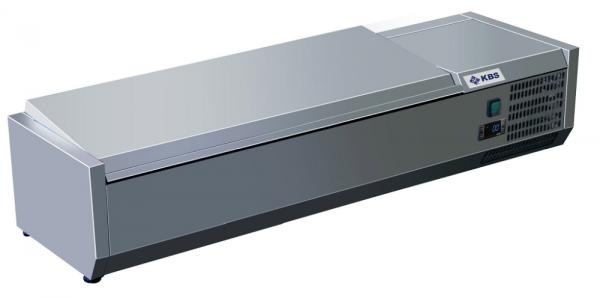 KBS RX 1410 Kühlaufsatz mit CNS-Deckel für 5 x GN 1/3