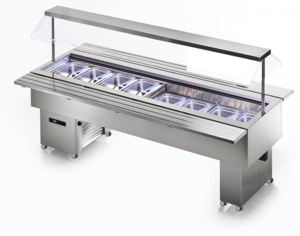 KBS Isola 8M VT Inox - Salatbar für 8 x GN 1/1