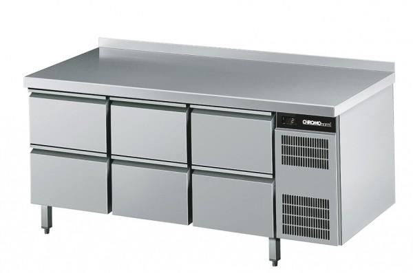 Chromonorm Kühltisch GN 1/1, mit 6 Schubladen - Breite 1725 mm CKTEK7311601-2/2/2