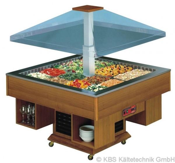 KBS Salatbar Gazebo 8 x GN 1/1 mit elektrischer Haubenbetätigung